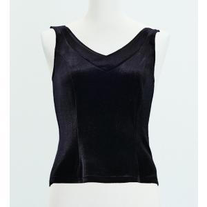 フラメンコ ベルベット ブラウス ブラック フリーサイズ 2434bkfb|emika