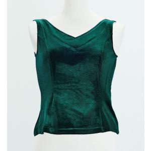 フラメンコ ベルベット ブラウス グリーン フリーサイズ 2434grfb|emika