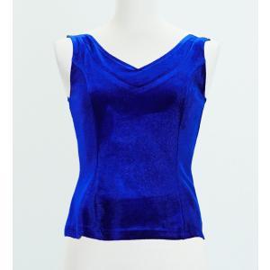 フラメンコ ベルベット ブラウス ロイヤルブルー フリーサイズ 2434rblfb|emika
