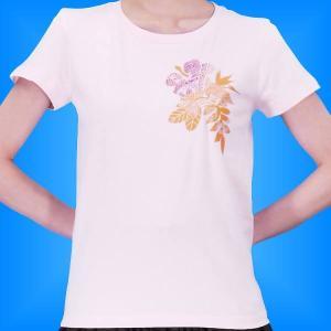 フラダンス Tシャツ L ハイビスカス カヒコ ピンク 2445lp|emika