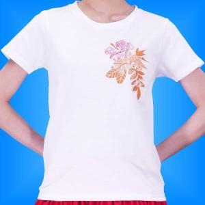 フラダンス Tシャツ M ハイビスカス カヒコ ホワイト 2445mw|emika