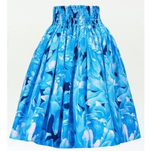 フラダンス パウスカート シングル78cm丈 ライトブルー 2451|emika