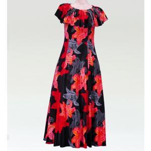 フラダンス マルチウェイロングドレス ブラック Lサイズ 2482bkL|emika