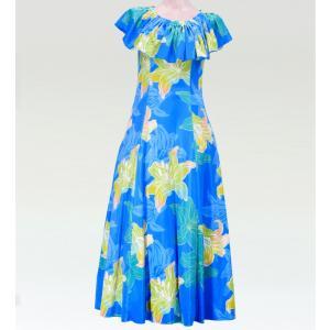 フラダンス マルチウェイロングドレス ライトブルー Lサイズ 2482lblL|emika