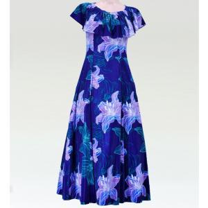 フラダンス マルチウェイロングドレス ネイビー Lサイズ 2482nvL|emika