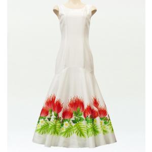 フラダンス レフアシャンタンドレス ホワイト Sサイズ 2555whS