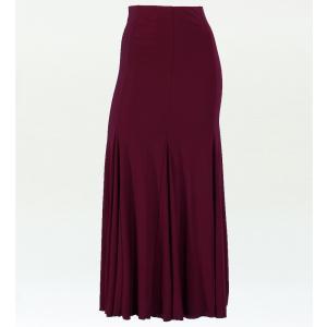 フラメンコ マーメード ファルダ スカート ワインレッド フリーサイズ 598