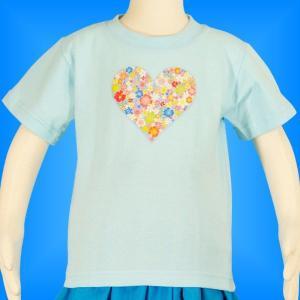 フラダンス ケイキTシャツ キッズ ブルー 90サイズ c16bl90