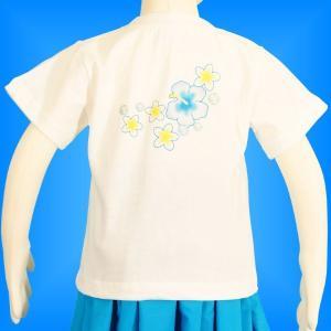 フラダンス ケイキTシャツ キッズ ホワイト 120サイズ c9w120