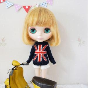 イギリスの国旗ユニオンジャックがモチーフになったセーター☆ 今日はちょっとトラッドに♪UKチックなモ...