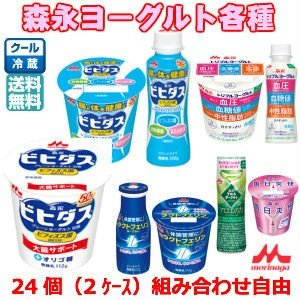 【2ケースセット・組み合わせ自由】森永ヨーグルト各種(1ケース12個入)