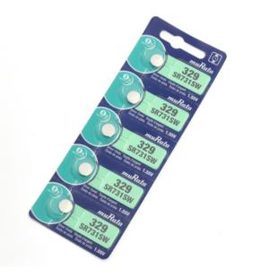 SR731SW(329) 酸化銀ボタン電池 【muRata ムラタ】村田製作所 1シート( 5個パック)|emilysshop