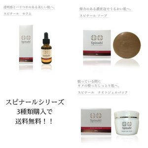 Spinahl スピナール 美容液 石鹸 ナイトジェル 3種セット 日焼け対策 シミ 化粧品 人気 透明感 エイジングケア|emilysshop