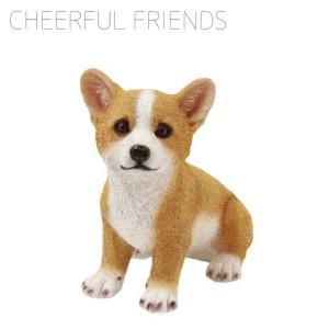 チアフルフレンズ コーギーのジェシー 1003702-05 オブジェ 置物 動物 アニマル 子犬 コーギー emiook