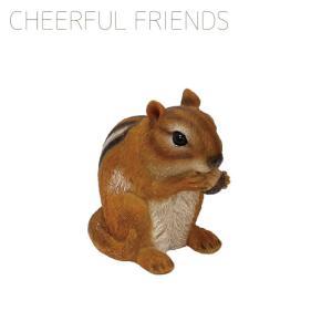 チアフルフレンズ しまリスのオリバー 1003868-00 オブジェ 置物 動物 アニマル りす リス 栗鼠 Squirrel|emiook