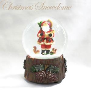 100mmウォータボール サンタオルゴール 16726【函館クリスマスファクトリー サンタクロース オルゴール】|emiook