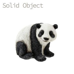 ソリッドオブジェ ミニ パンダ 4008110-03 オブジェ マスコット 置物 動物 アニマル  ぱんだ 熊猫 panda emiook