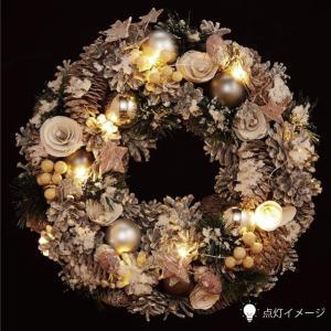クリスマスLEDリース ★スノーホワイト 【クリスマス特集 リース 飾り】|emiook|02