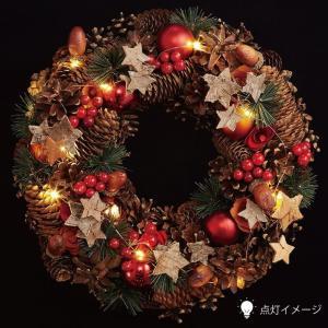 クリスマスLEDリース ★スノーホワイト 【クリスマス特集 リース 飾り】|emiook|03