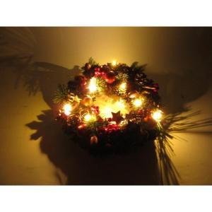 クリスマスLEDリース ★スノーホワイト 【クリスマス特集 リース 飾り】|emiook|05