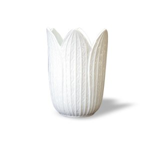 7613 バッチャン焼 ホワイト 花瓶 チューリップ|emiook