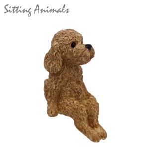 SITTING ANIMAL ドッグ  DE043948 オブジェ マスコット 小さい 犬 いぬ イヌ dog emiook