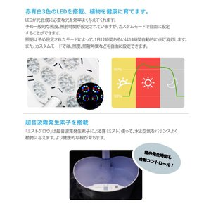 【送料無料】水耕栽培キット mistGrow ミストグロウMP-355FW LED搭載 Wi-Fi機能|emiook|08