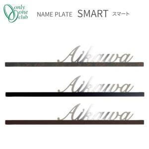 【送料無料】Onlyone オンリーワン 表札 金属 スマート 特別色 サイン ネーム 【NA1-SS39】|emiook