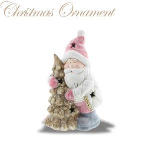 サンタ LEDライト付 XTO-073【クリスマス特集 紅石 オーナメント サンタクロース】|emiook