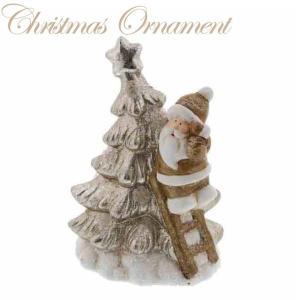 ツリー サンタ LEDライト付 XTO-081【クリスマス特集 紅石 オーナメント サンタクロース】|emiook