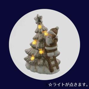 ツリー サンタ LEDライト付 XTO-081【クリスマス特集 紅石 オーナメント サンタクロース】|emiook|04