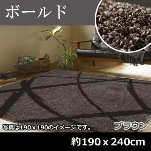 萩原 シャギ−ラグ ボールド 約190x240cm 270058724 ブラウン【200サイズ】|emon-shop