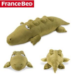 フランスベッド バイブレーター内蔵!ブルブル抱き枕 クロコチャン 36087000【120サイズ】|emon-shop