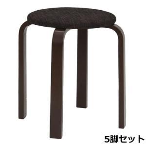 パセリ スタッキングスツール ファブリック ブラック 5脚セット 40-540-5SET 椅子 完成品 ヤマソロ【140サイズ】|emon-shop