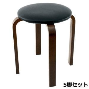 パセリ スタッキングスツール ファブリック ブラック 5脚セット 40-552-5SET 椅子 完成品 ヤマソロ【140サイズ】|emon-shop