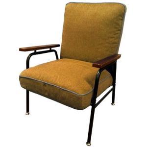 Harmonia ハルモニア 木肘付スチールソファ イエロー 83-867 椅子 組立品 ヤマソロ【200サイズ】|emon-shop