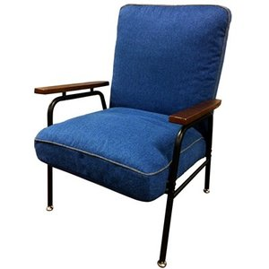 Harmonia ハルモニア 木肘付スチールソファ ブルー 83-868 椅子 組立品 ヤマソロ【200サイズ】|emon-shop