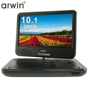 アーウィン 10.1インチ ポータブルDVDプレーヤー マルチプレーヤー CD簡単リッピング機能 9...