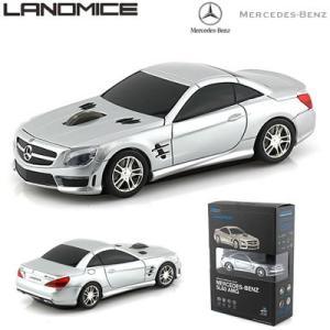 LANDMICE メルセデス ベンツ AMG 無線マウス 2.4G BENZ-SL63AMG-SL シルバー【60サイズ】|emon-shop