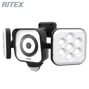 ムサシ LEDセンサーライト 防犯カメラ 8W×2灯 C-AC8160 RITEX【60サイズ】|emon-shop