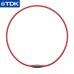 TDK 磁気ネックレス 42cm EXNAS エクナス D1 D1A-42RED 赤【60サイズ】 emon-shop