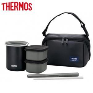 サーモス 約0.8合 保温弁当箱 DBQ-362 DBQ-362-MTBK マットブラック【80サイズ】|emon-shop