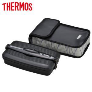 サーモス お弁当箱 フレッシュランチボックス  1段式 800ml DJB-805-BKGY ブラックグレー【80サイズ】|emon-shop