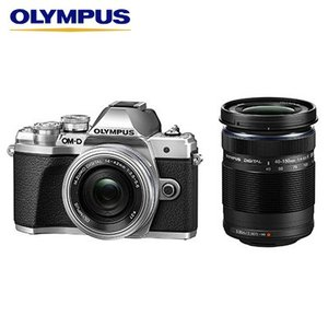 オリンパス デジタル一眼カメラ ミラーレス一眼カメラ OM-D E-M10 Mark III EZダブルズームキット E-M10-MKIII-EZWZK-SL シルバー【80サイズ】|emon-shop