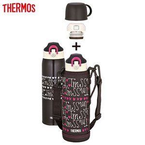 サーモス 水筒 1.0L 真空断熱2ウェイボトル FHO-1001WF-CH-H チョコハート【80サイズ】|emon-shop