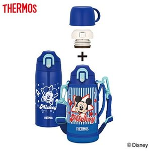 サーモス 水筒 0.6L 真空断熱2ウェイボトル FHO-601WFDS-BL ミッキー ブルー【60サイズ】|emon-shop