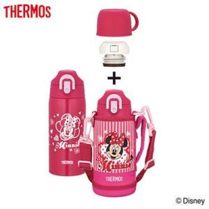 サーモス 水筒 0.6L 真空断熱2ウェイボトル FHO-601WFDS-P ミニー ピンク【60サイズ】|emon-shop