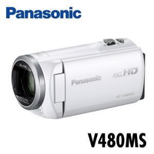 パナソニック デジタルハイビジョンビデオカメラ 32GBメモリー内蔵 HC-V480MS-W ホワイト【80サイズ】|emon-shop