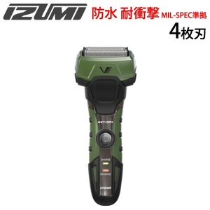 マクセルイズミ 4枚刃 シェーバー 防水 耐衝撃 耐振動 MIL-SPEC準拠 Vシェーバー グルーミングシリーズ A-DRIVE IZF-V758-G グリーン【80サイズ】 emon-shop