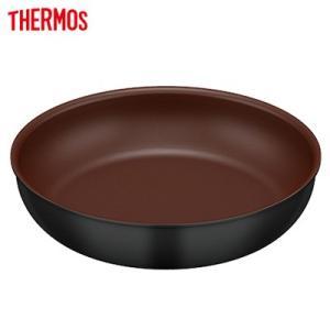 サーモス 取っ手のとれるフライパン 28cm IH/ガスOK KFA-028-BK ブラック【60サイズ】|emon-shop